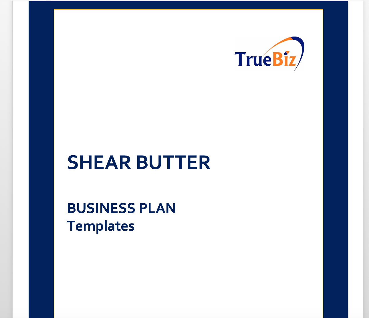 shear butter business plan templates truebiz