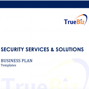 SECURITY SERVICES & SOLUTIONS  BUSINESS PLAN Templates
