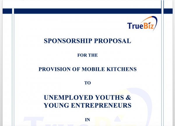 SPONSORSHIP PROPOSAL  FOR THE  PROVISION OF MOBILE KITCHENS