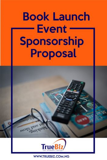 Book Launch Event Sponsorship Proposal